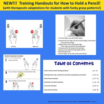 FREE Pencil Warmups to Teach How to Hold a Pencil