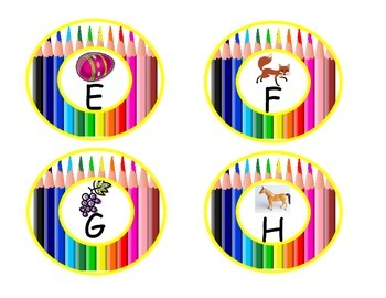 Pencil Word Wall Letters