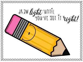 Pencil Work Reminder