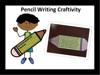 Pencil Writing Craftivity