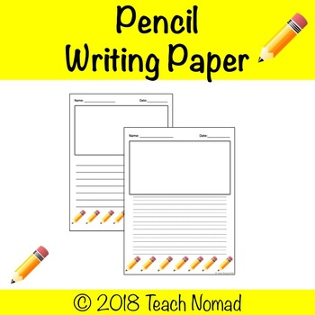 Pencil Writing Paper