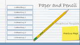 Pencil and Notebook Paper PowerPoint Template