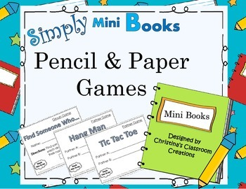 Pencil and Paper Games- Simply Mini Books