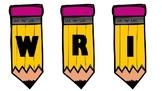 Pencil bunting (editable)