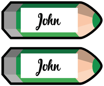 Pencil labels/pencil name tags {editable} 4 types!