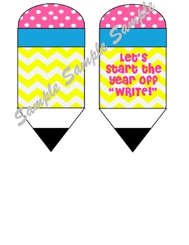 Pencil tags, pencil gift tags, chevron pencils, teacher gifts, back to school