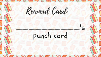 Pencil-themed printable punch cards