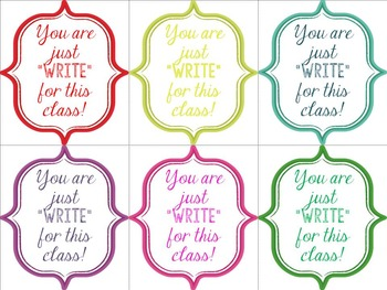 Pencil/Pen Gift Tags! Great for Back to School Gifts for Students or Teachers!