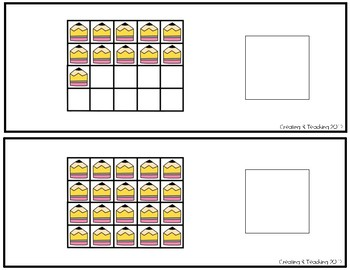 Pencils 20 Frame Counting Interactive Book
