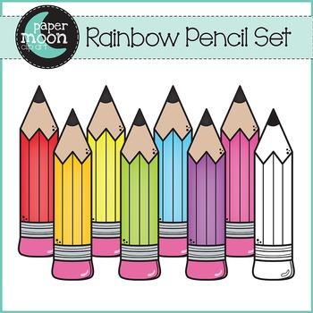 Pencils - Back To School - Paper Moon Clip Art