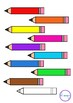 Pencils Back to School Stationary Clip Art - 3 Designs in 10 Colors