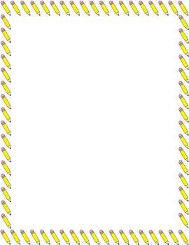 Pencils Border