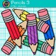 Rainbow Pencil Clip Art {Back to School Supplies for Class