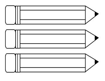 Pencils Printables - size Large