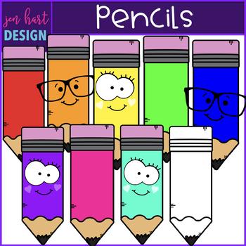 Pencils Clip Art- School Supplies {jen hart Clip Art}