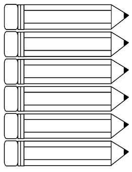Pencils Printables - Size Medium