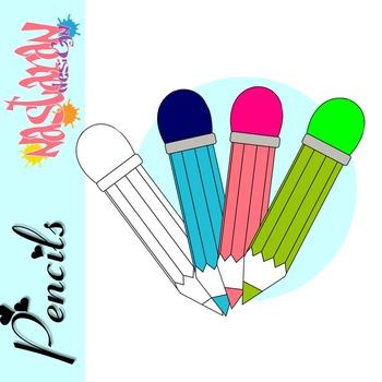 Pencils Clipart {Freebie}