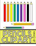 Pencils Clipart Freebie