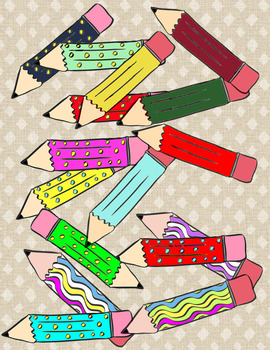 Pencils Galore Clip Art
