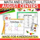 Back to School Activities Kindergarten Literacy & Math Centers
