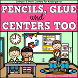 Back to School Kindergarten Centers {Literacy and Math}