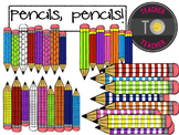Pencils, Pencils! {TeacherToTeacher Clipart} back to schoo