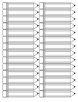 Pencils Printables - Size small