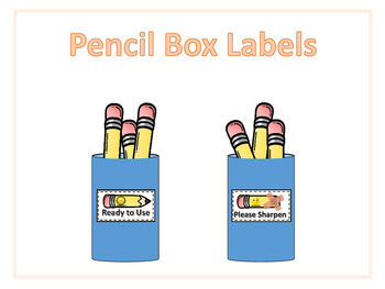 Pencils Sharpened / Needs Sharpened Labels