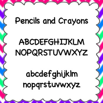 Pencils and Crayons Font {personal and commercial use; no license needed}