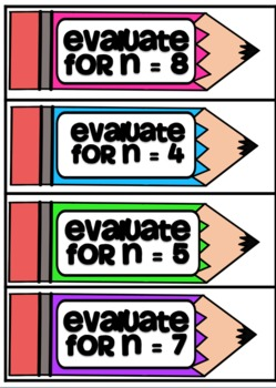 Pencils and Pads - Solving Algebraic Expressions