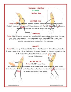 Pencilton Writer's 30 Minute Workout Song