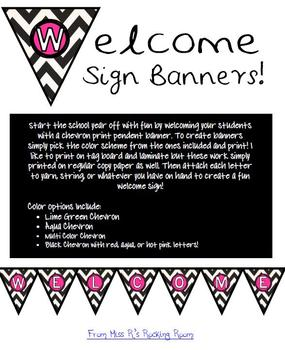 Pendent Chevron Welcome Banner