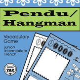 Pendu / French Hangman: a vocabulary review game