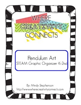 Pendulum Art STEAM Graphic Organizer K-2nd