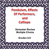 Digital Science Review Game, Effects of Performers, and Calliope, Editable, MC
