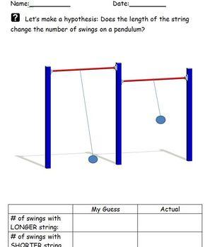 Pendulum Exploration Hypothesis Worksheet