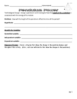 Pendulum Lab Report - Length