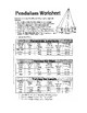 Pendulum Worksheet