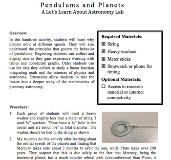 Pendulums and Planets
