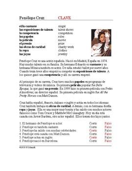 Penélope Cruz Biografía: Biography on a Spanish Actress