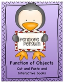 Function of Objects Cut and Paste and Interactive book with Penelope Penguin