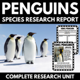 Penguin Unit   Research Project   Reading Passages   Student Research Booklet