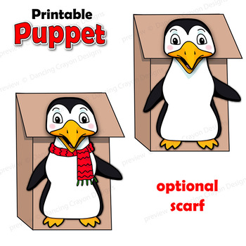 photo relating to Penguin Template Printable known as Penguin Craft Game Printable Paper Bag Puppet Template