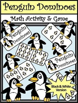 Penguin Activities: Penguin Dominoes Winter Math Game Acti
