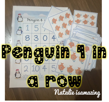 Penguin 4 in a Row - Number recognition (0-5) and (0-10)