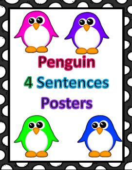 Penguin 4 sentence posters