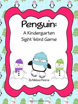 Penguin: A Winter Kindergarten Word Game