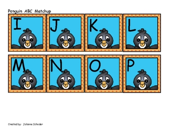 Penguin ABC Match Up