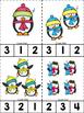 Penguin ABC's & 123's Clip Cards {NO DITTOS}