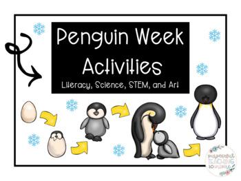 Penguin Activities- Literacy, Science, STEM, and Art